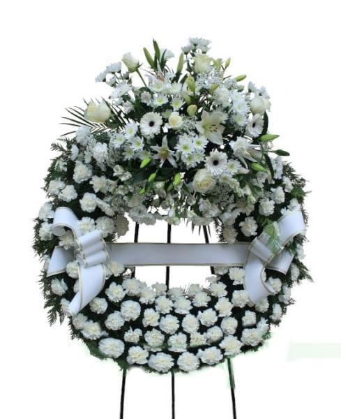 F800 Corona Funeraria un cabezal tonos blancos